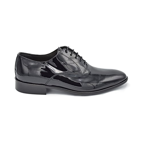 USBARRET Blk - Men's Black Leather Oxford Dress Wedding shoes, with leather sole, Men US 12 by DRUDD