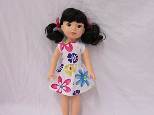 Sleeveless Summer Dress for 14 inch Doll, Fits doll such as Wellie Wisher, Glitter Girl or Hearts for (Sleeveless Daisy)