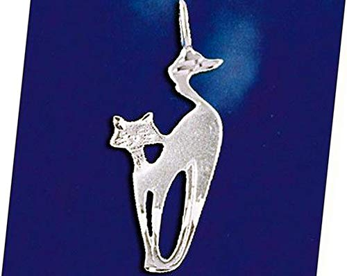 (Sterling Silver Siamese Cat Pendant Kitty Oriental Pussycat Charm Solid 925 Vintage Crafting Pendant Jewelry Making Supplies - DIY for Necklace Bracelet Accessories by CharmingSS)