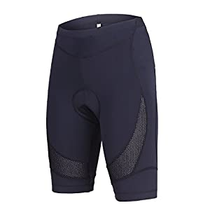 beroy Womens Bike Shorts With 3D Gel Padded,Cycling Women's Shorts (Large, Black)