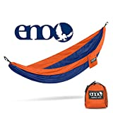 ENO - Eagles Nest Outfitters SingleNest Hammock, Portable Hammock for One, Orange/Sapphire
