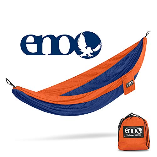 ENO – Eagles Nest Outfitters SingleNest Hammock, Portable Hammock for One, Orange Sapphire