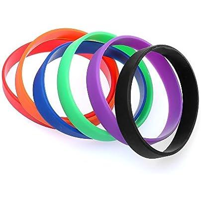 Distinct reg pcs Silicone Rubber Men and Women Sport Bracelet Basketball Wristband Estimated Price £6.00 -