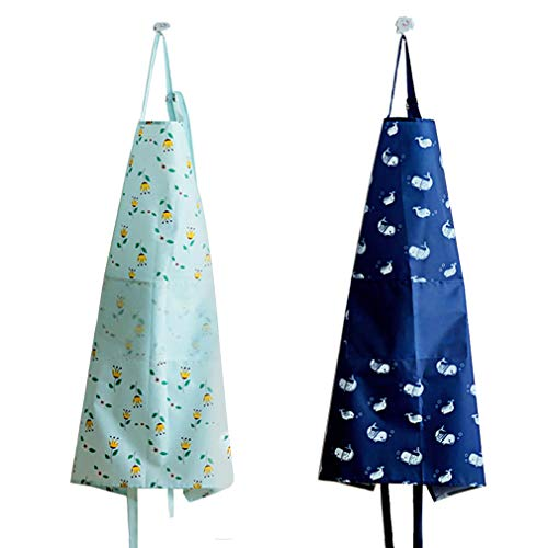 - Women Aprons with pockets-2 Pack, Waterproof Fresh Apron, Waitress Apron - Women's Kitchen Apron