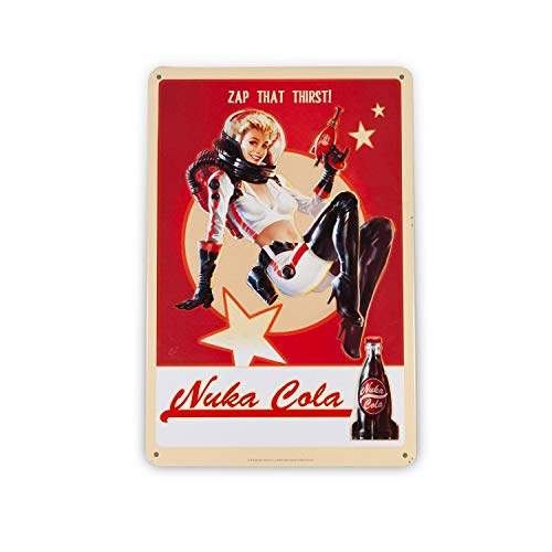 FanWraps Fallout 76 Nuka Cola Girl Metal Sign Official Lithograph | Wonderful 6