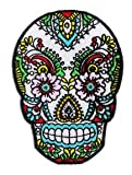 """Sunny Buick Lace Sugar Skull Officially Licensed Skull Artwork, 3.5""""h x 2.75"""" EMBROIDERED Patch"""