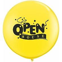 "Qualatex Latex Balloons 31618-Q Open House, 36"", Yellow"
