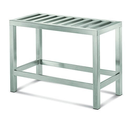 Conair Home ~ The Brooklyn Collection Stainless Steel Vanity Bench by Conair