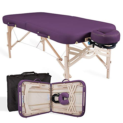 "(EARTHLITE Premium Portable Massage Table Package Spirit - Spa-Level Comfort, Deluxe Cushioning incl. Flex-Rest Face Cradle & Strata Face Pillow, Carry Case (30/32"" x 73"") - Made in USA)"