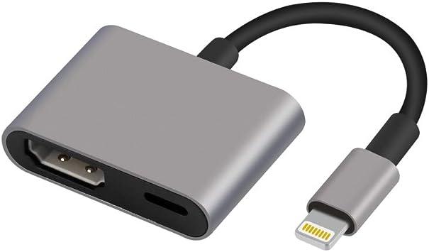 Cable Adaptador Compatible con iPhone iPad a HDMI, Conector AV ...