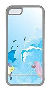 iPhone 5c case, Cute Love Birds iPhone 5c Cover, iPhone 5c Cases, Soft Clear iPhone 5c Covers