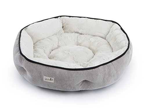 (Petlinks Soothing Escape Gel Memory Foam Pet Bed, Large, Natural Plush/Gray)