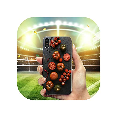 (Transparent Tomato Fruit Soft Silicone TPU Mobile for Phone Cases Cover for iPhone 10 8 7 Plus 6 6S Plus 5 5S SE 5C 4S Shell Bags,11,for iPhone 8 Plus)