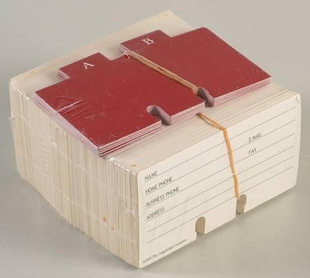 Longaberger Rolodex Cards For Address Basket from Longaberger