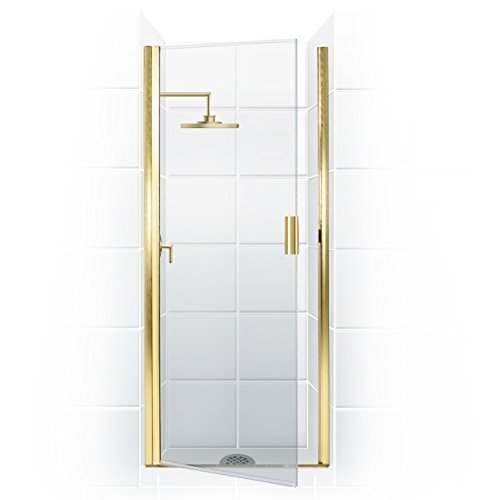 "UPC 787449363933, Coastal Shower Doors Paragon Series Semi-Frameless Continuous Hinge Shower Door In Clear Glass, 26"" x 82"", Gold"