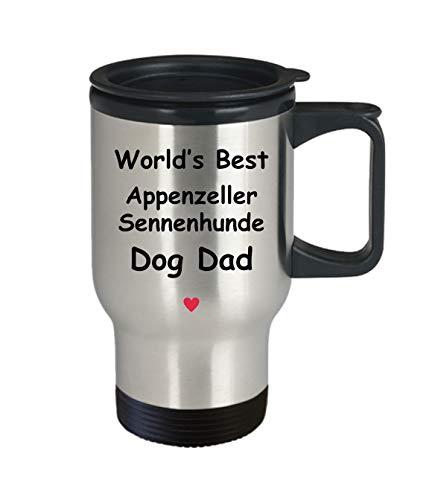 Gift For Appenzeller Sennenhunde Dog Dad - World's Best - Fun Novelty Gift Idea Coffee Tea Cup Funny Presents Birthday Christmas Anniversary Thank You Appreciation 14oz Travel Mug 2