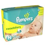 Health & Personal Care : Pampers Swaddlers Size 1 20 Count