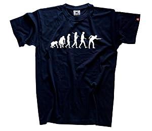 Snooker Billard Pool Kö Billardspieler Evolution T-Shirt Navy L