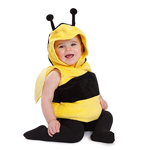 Dress Up America Kids Little Bee Outfit Fuzzy Bee Costume -