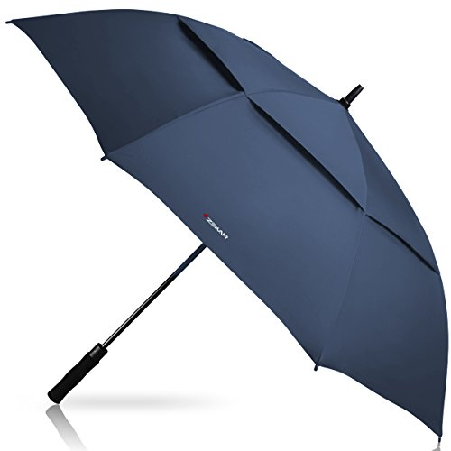 ZEKAR 54/62/68 inch Windproof Golf Umbrella, Large Rain Umbrellas, Vented Double Canopy Stick Umbrella, Three Sizes ()