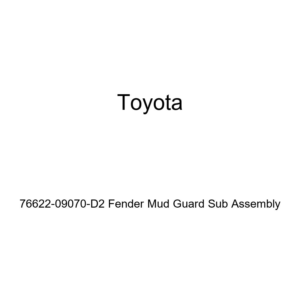 TOYOTA Genuine 76622-09070-D2 Fender Mud Guard Sub Assembly