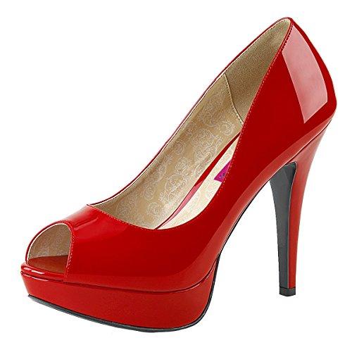 Heels-Perfect - Zapatos con tacón Mujer rojo (rojo)