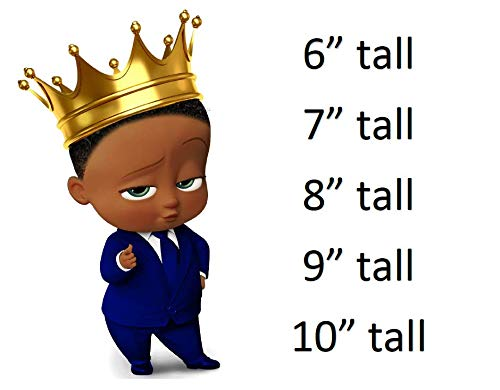 African American Boss Baby Boy Royal Prince Crown Edible Cake Topper Cupcakes Boss Baby
