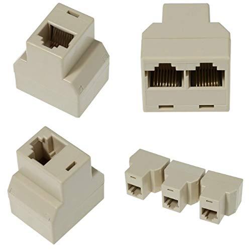HoganeyVan 5 pezzi//set Ethernet RJ45 1 RJ45 femmina a 2 RJ45 femmina Rete LAN Connettore adattatore splitter Ethernet
