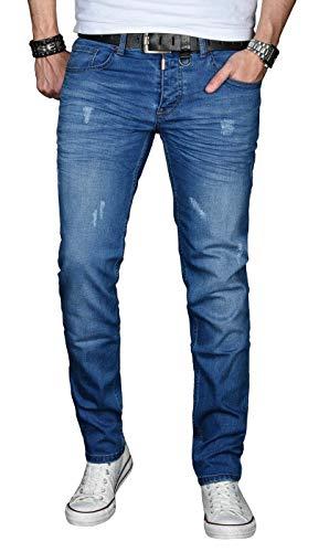 A. Salvarini Designer Herren Jeans Hose Basic Stretch Jeanshose Regular Slim