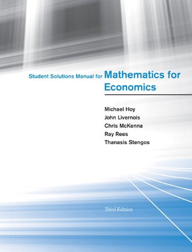 Student Solutions Manual for Mathematics for Economics (The MIT Press)