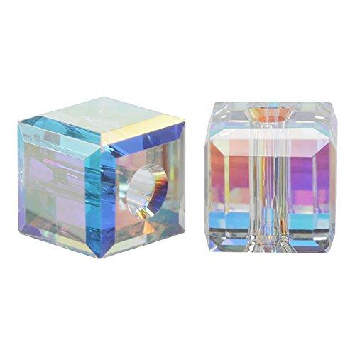 SWAROVSKI ELEMENTS Crystal #5601 12mm Cube Beads Crystal AB -