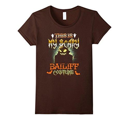 Womens This is My Scary Bailiff Costume Scare Halloween TShirts Medium Brown - Bailiff Costume