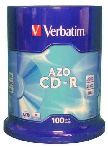 Verbatim AZO Crystal Surface 52X 700MB CD-Rohlinge 100er Spindel
