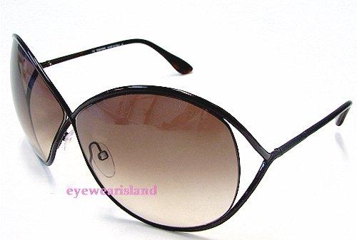 TOM FORD Lilliana TF131 TF-131 Chocolate Brown 48F Frame Sunglasses ... 3af8c4b41db