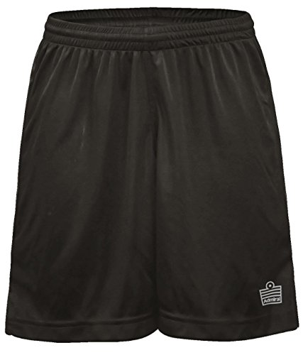 Admiral Club Ready-to-Play Women's Soccer Shorts, Black/White, Small (Mexico Soccer Uniform)