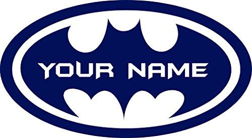 ChicWalls Removable Personalized Batman Logo Custom Name Text Wall Art Decor Decal Vinyl Sticker Mural Superhero Kids Room Nursery 10