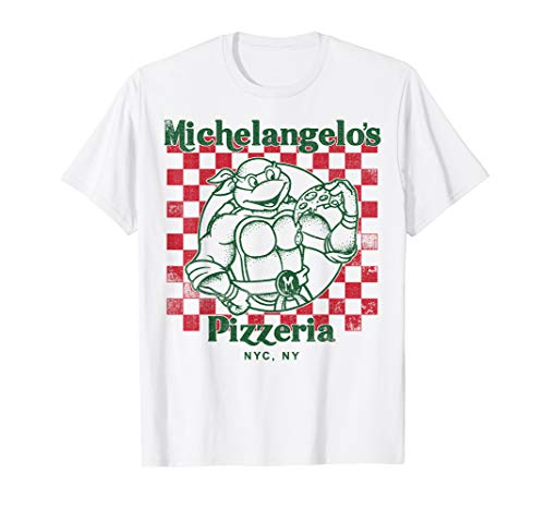 Michelangelo's Pizza T-shirt for Men or Women in 4 Colors