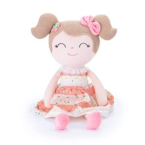 Gloveleya Baby Doll Baby Girl Gifts Cloth Dolls Kids Plush Toys 16.5'' ... - Fabric Doll Clothes