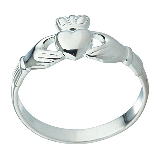 [S2543] Claddagh Ring Childs Silver Extra Heavy Small (6.5)