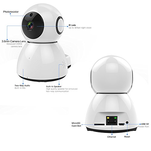 Penton-Wireless-IP-Camera-With-Surveillance-System-Security-Camera-HD-Night-Vision-1080P-Camera-For-Pet-Baby-MonitorIndoor-Home-Security-White