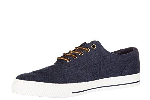 Polo Ralph Lauren Herenschoenen Katoenen Sneakers Sneakers Vaughn Blu