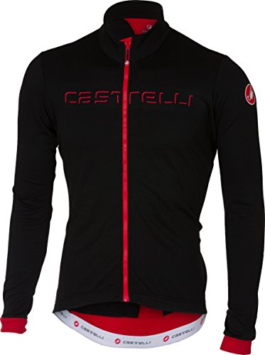 Castelli Fondo Full-Zip Long-Sleeve Jersey - Men's Black/Red, ()