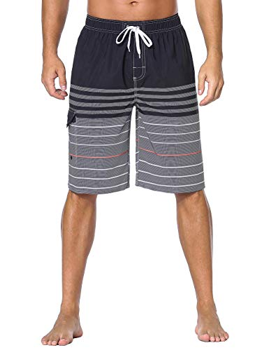 5c80f8c528e9e Unitop Men's Swim Trunks Classic Lightweight Board Shorts with Lining