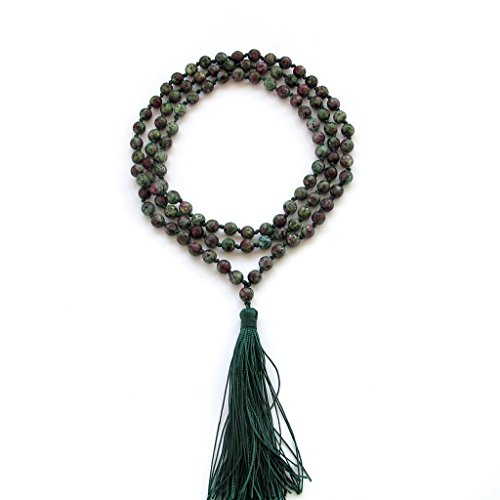 Hand Faceted Beads - Hand Knotted Faceted 6mm 108 Stone Beads Buddhist Prayer Japa Mala for Meditation
