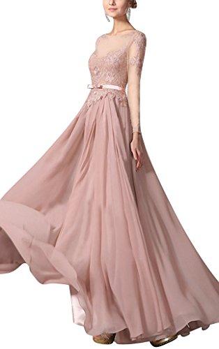 Elegante Abendkleid Brautjungfer Koralle Chiffon BRIDE Kleid GEORGE 5Uqfgg