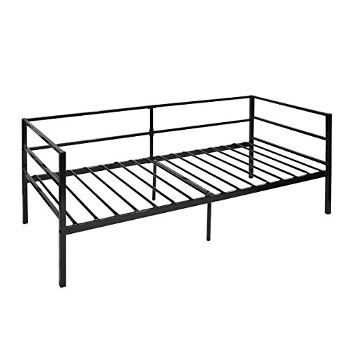 Green Forest Daybed Frame Twin, Steel Slats Platform Strong