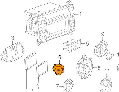 GTV INVESTMENT MB SPRINTER 906 Haut-parleur de porte avant gauche ou droite A9068270260