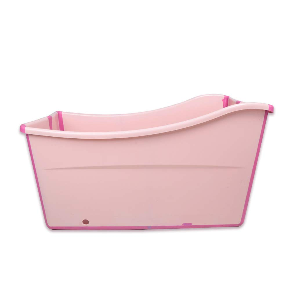 Adult Bath Folding Portable tub, Children Play with Summer Toddler Padded Bathtub (Blue + Pink) HUACNAG (Color : Pink)