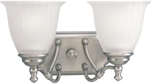 Progress Lighting P2730-81 2-Light Bath Bracket, Antique Nickel