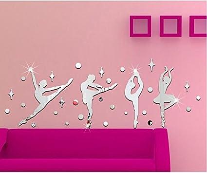 Amazon.com: 3D Stereoscopic Children\'s Room Dance Studio Mirror Wall ...